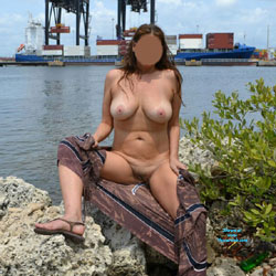 Spreading At The Park - Nude Amateurs, Big Tits, Outdoors