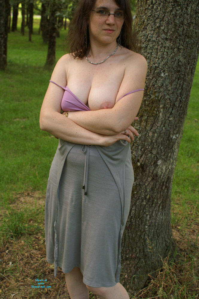 Pic #7 On The Road To Vacations - Big Tits, Brunette, Bush Or Hairy, Amateur, Outdoors