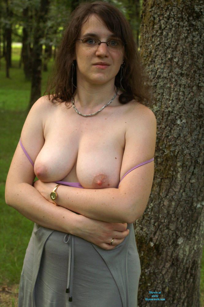 Pic #8 On The Road To Vacations - Big Tits, Brunette, Bush Or Hairy, Amateur, Outdoors