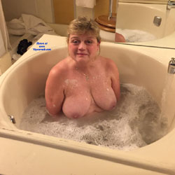 Wife In Sunkin Tub - Big Tits, Wife/wives, Amateur, Mature