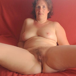 Spreading My Pussy! - Nude Amateurs, Big Tits, Brunette, Bush Or Hairy, Wife/Wives