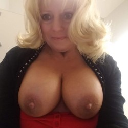 Large tits of a co-worker - Betty