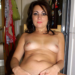 Anna (38) Teasing The Neighbours Before Getting Naked Indoors - Nude Girls, Brunette, Amateur