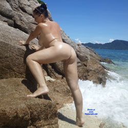 Ocean And Sun - Nude Amateurs, Beach, Big Tits, Brunette, Outdoors