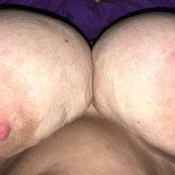 Extremely large tits of my wife - Ann Jones