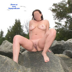 Spreading At The Beach  - Nude Girls, Beach, Big Tits, Outdoors
