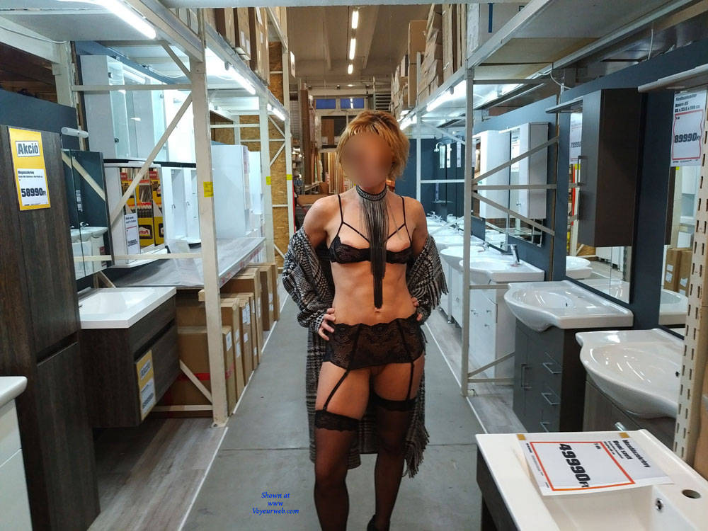Pic #5 In The Shop - Public Exhibitionist, Flashing, Lingerie, Public Place, Shaved, Gf