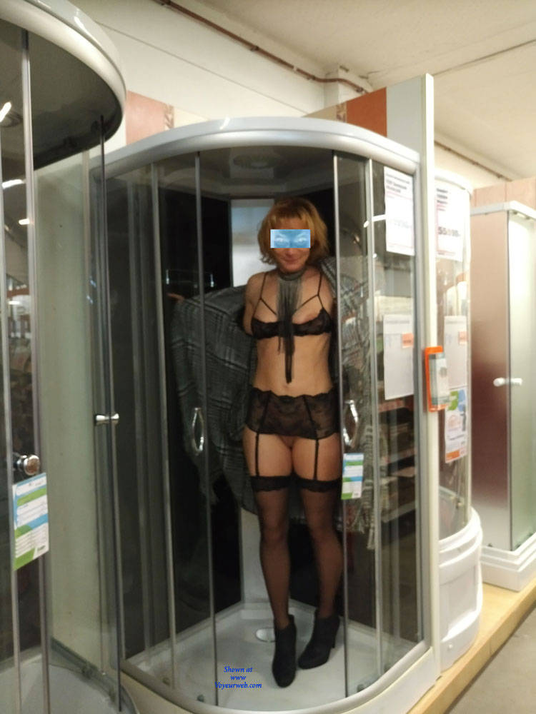 Pic #6 In The Shop - Public Exhibitionist, Flashing, Lingerie, Public Place, Shaved, Gf