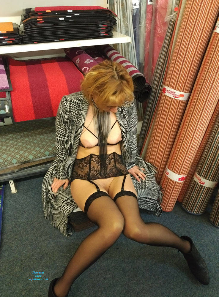 Pic #9 In The Shop - Public Exhibitionist, Flashing, Lingerie, Public Place, Shaved, Gf