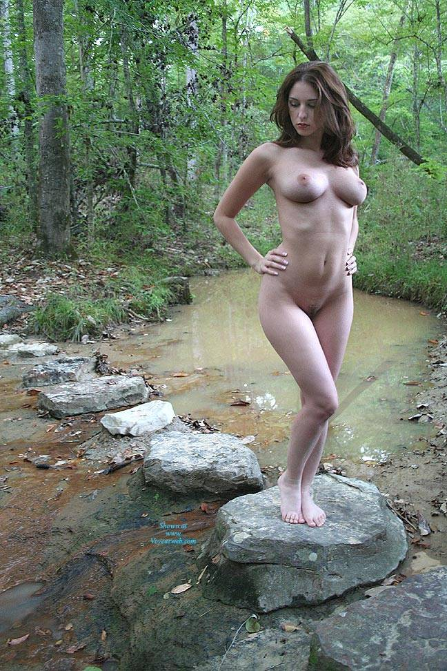 Pic #1 Creek Path - Public Place, Big Tits, Brunette, Outdoors, Nature, Bush Or Hairy, Pussy, Natural Tits, Round Tits, Firm Ass, Round Ass, Beautiful Ass, Hard Nipples, Young Woman, Long Legs, Long Nipples