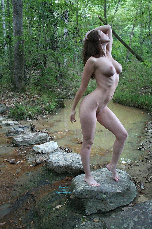 Pic #2 Creek Path - Public Place, Big Tits, Brunette, Outdoors, Nature, Bush Or Hairy, Pussy, Natural Tits, Round Tits, Firm Ass, Round Ass, Beautiful Ass, Hard Nipples, Young Woman, Long Legs, Long Nipples