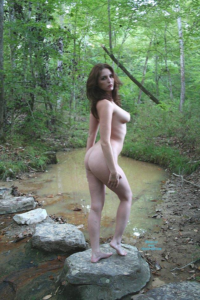 Pic #4 Creek Path - Public Place, Big Tits, Brunette, Outdoors, Nature, Bush Or Hairy, Pussy, Natural Tits, Round Tits, Firm Ass, Round Ass, Beautiful Ass, Hard Nipples, Young Woman, Long Legs, Long Nipples