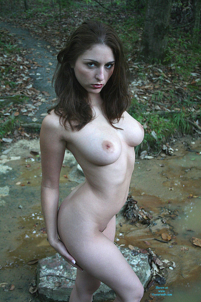 Pic #7 Creek Path - Public Place, Big Tits, Brunette, Outdoors, Nature, Bush Or Hairy, Pussy, Natural Tits, Round Tits, Firm Ass, Round Ass, Beautiful Ass, Hard Nipples, Young Woman, Long Legs, Long Nipples