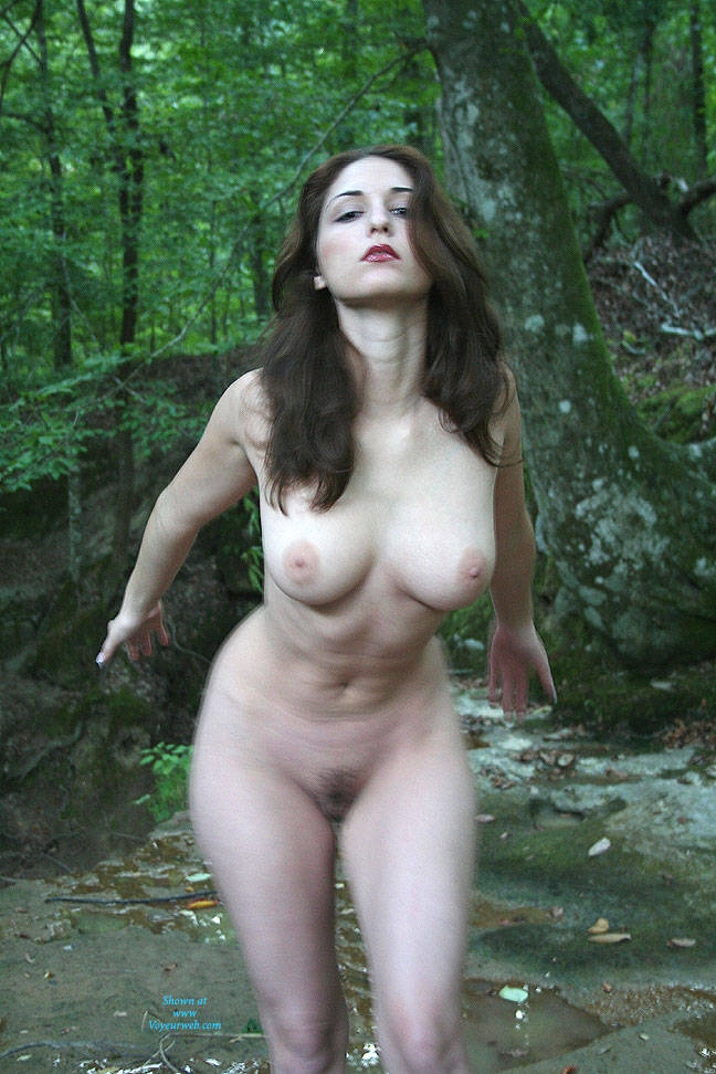 Pic #8 Creek Path - Public Place, Big Tits, Brunette, Outdoors, Nature, Bush Or Hairy, Pussy, Natural Tits, Round Tits, Firm Ass, Round Ass, Beautiful Ass, Hard Nipples, Young Woman, Long Legs, Long Nipples