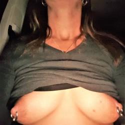 Medium tits of my wife - Nikola