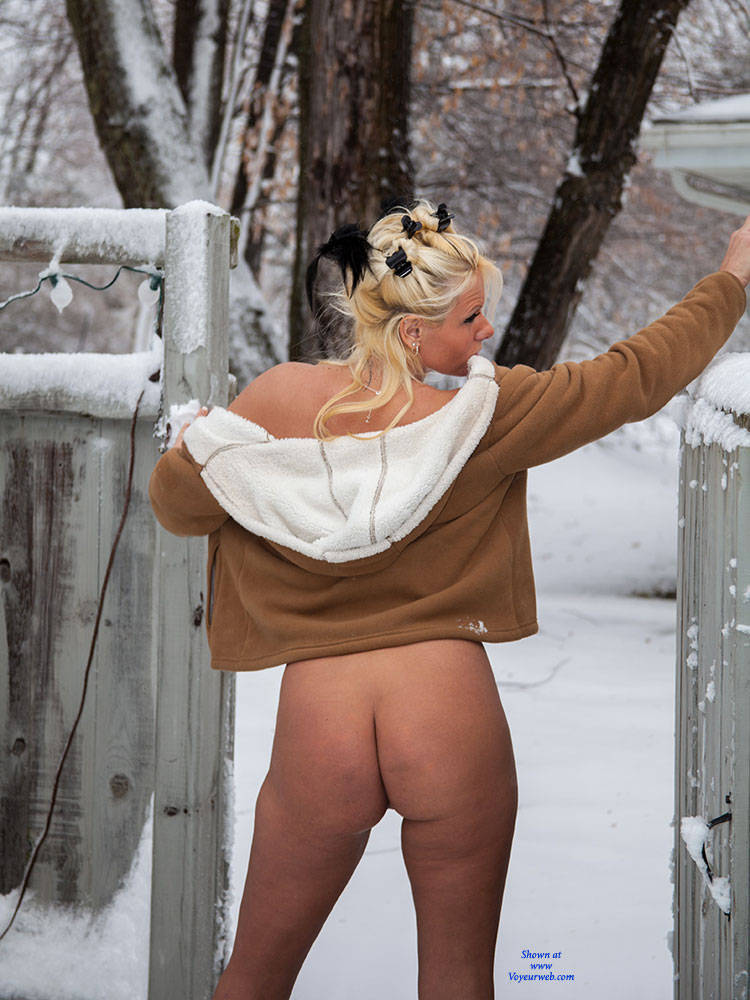 Hot blonds naked in the snow congratulate, simply
