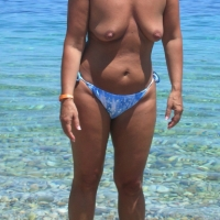 Medium tits of my wife - melania