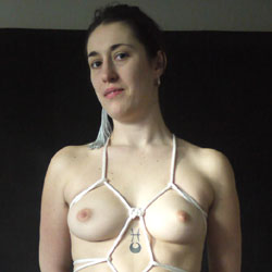 White Peony - A Little Tied Up! - Nude Girls, Big Tits, Brunette, Bush Or Hairy, Amateur, Tattoos