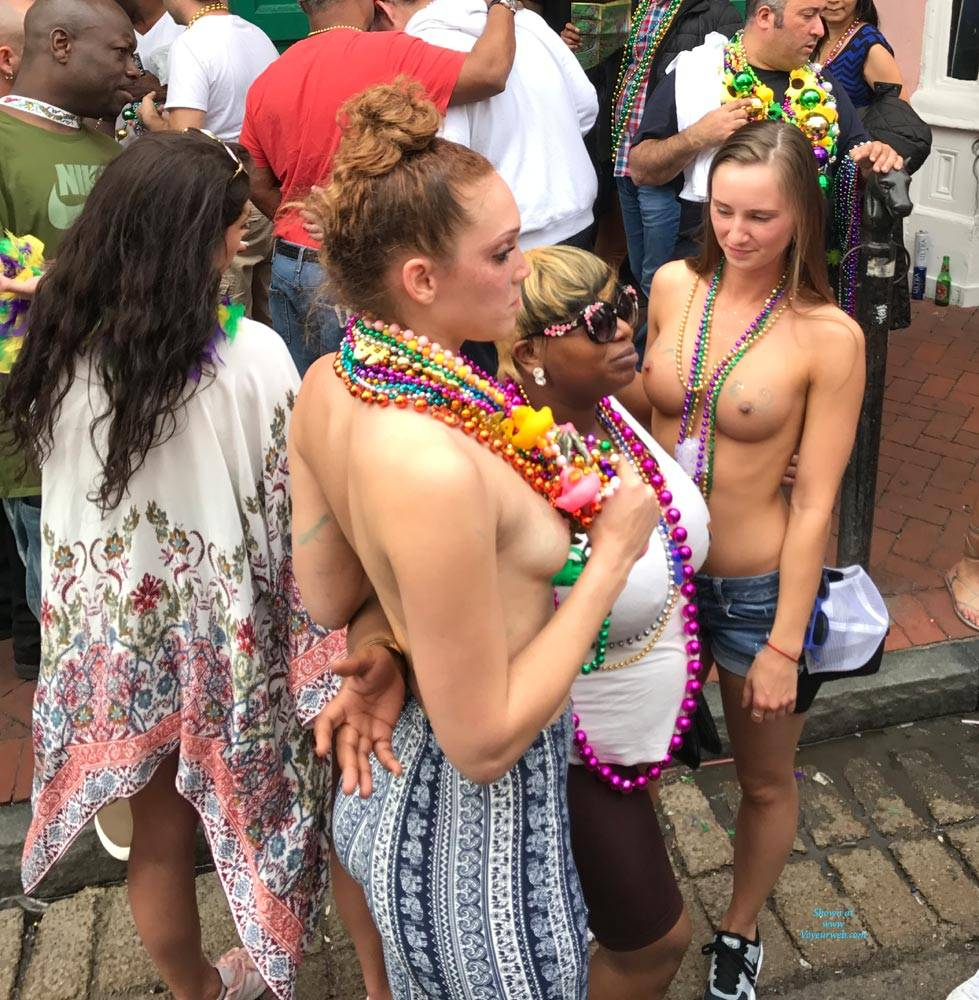 Wife at mardi gras