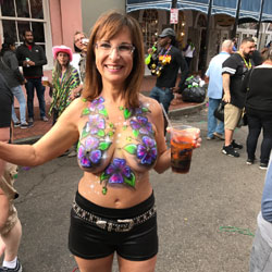 Mardi Gras 2017 - Topless Girls, Big Tits, Public Exhibitionist, Outdoors, Public Place