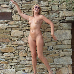 Naked Blonde Woman's Outdoor Pose - Big Tits, Blonde Hair, Exposed In Public, Firm Tits, Hard Nipple, Naked Outdoors, Natural Tits, Nipples, Nude In Public, Nude Outdoors, Perfect Tits, Pussy Lips, Shaved Pussy, Sunglasses, Hairless Pussy, Naked Girl, Sexy Body, Sexy Boobs, Sexy Feet, Sexy Figure, Sexy Girl, Sexy Legs