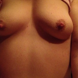 Very small tits of my wife - Wife's titties