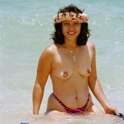Mokuleia Polo Beach Hawaii - Beach, Brunette, Outdoors, Nude Girls