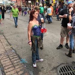 Sights On Bourbon Street 2017 - Topless Girls, Big Tits, Public Exhibitionist, Outdoors, Public Place