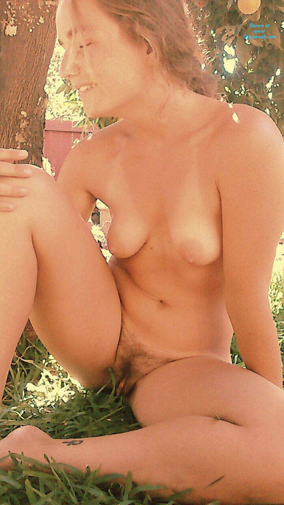 yard Naked amateur wife back