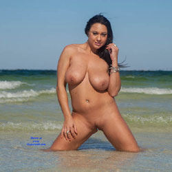 Nude At Beach In Tampa Florida - Nude Girls, Beach, Big Tits, Brunette, Outdoors, Body Piercings