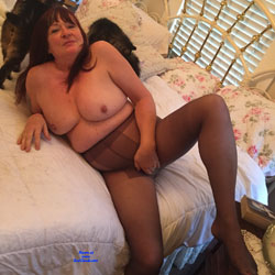 63 Year Old Wife In Pantyhose - Big Tits, Brunette, Lingerie, Mature, Penetration Or Hardcore, Shaved, Pussy Fucking, Amateur, Wife/Wives