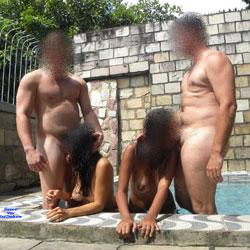 Selma Brasil And Aline - Big Tits, Blowjob, Outdoors