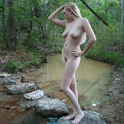 Rocks Across Stream - Big Tits, Nude In Public, Nude Outdoors, Naked Girl