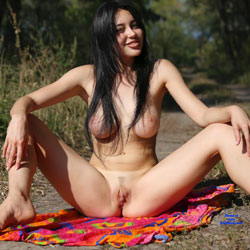 Sexy busty naked asian lick