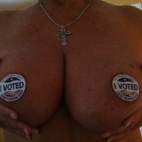 Very large tits of my girlfriend - Trish