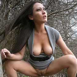 Wet Roots - Big Tits, Brunette, Outdoors
