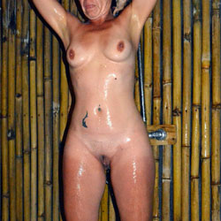 Shower - Nude Wives, Big Tits, Outdoors, Tattoos