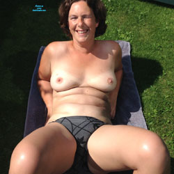 Showing Off Outside! - Nude Girls, Big Tits, Brunette, Outdoors, Bush Or Hairy, Amateur