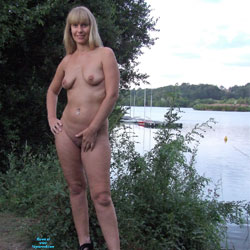 Poses Naked At The Lake - Big Tits, Blonde Hair, Exposed In Public, Full Nude, Heels, Naked Outdoors, Natural Tits, Nude In Nature, Nude In Public, Nude Outdoors, Shaved Pussy, Hairless Pussy, Hot Girl, Naked Girl, Sexy Body, Sexy Face, Sexy Legs, Sexy Woman