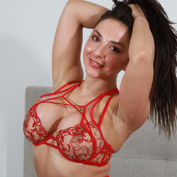 My Red See Through Lingerie - Bed, Big Tits, Brunette Hair, Firm Tits, Huge Tits, Large Breasts, Nipples, Perfect Tits, See Through, Shaved Pussy, Hot Girl, Sexy Body, Sexy Boobs, Sexy Face, Sexy Figure, Sexy Girl, Sexy Legs, Sexy Lingerie, Sexy Woman, Amateur