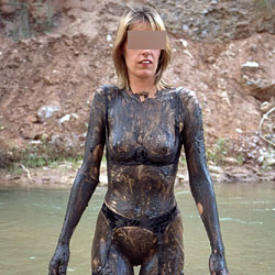 Susan In The Mud - Lingerie, Outdoors, Shaved, Tattoos