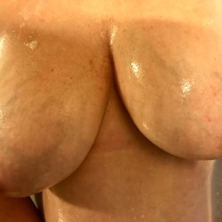 Large tits of my wife - Showering wife