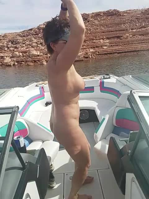 Nude mature dancing