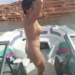 Dancing Naked On The Boat - Nude Girls, Big Tits, Brunette, Outdoors, Bush Or Hairy, Mature