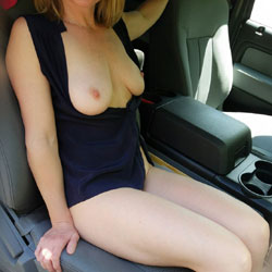 In The Parking Lot  - Pantieless Girls, Big Tits, Outdoors, Wife/Wives