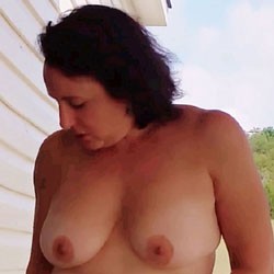 Naked Strip Search - Nude Amateurs, Big Tits, Brunette, Toys, Bush Or Hairy, Outdoors