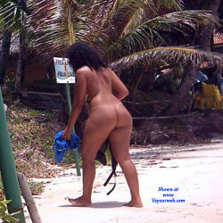 Couple In Tambaba Beach, Brazil - Brunette, Outdoors, Beach Voyeur, Nude Girls