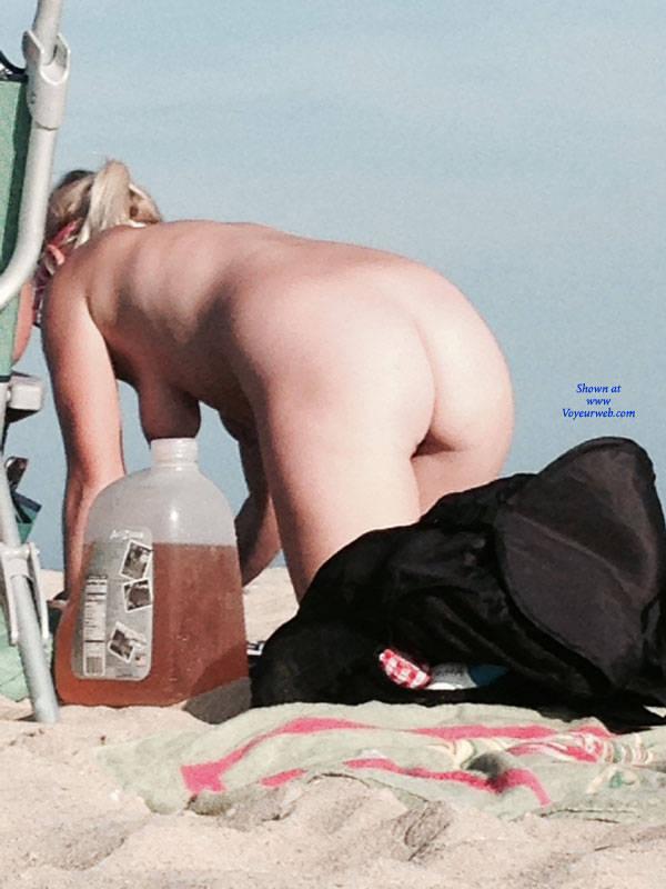 Pic #4 Blonde On The Beach In NJ - Nude Girls, Big Tits, Blonde, Outdoors, Beach Voyeur
