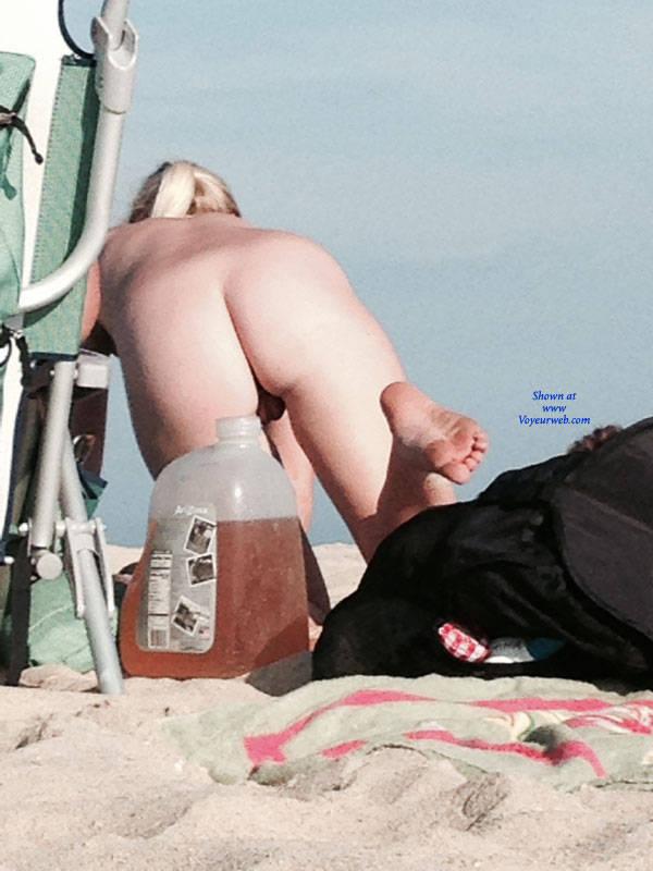 Pic #6 Blonde On The Beach In NJ - Nude Girls, Big Tits, Blonde, Outdoors, Beach Voyeur