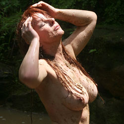 Sandy Creek Fun - Big Tits, Nude Outdoors, Redhead, Naked Girl